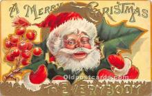 hol017758 - Santa Claus Postcard Old Vintage Christmas Post Card
