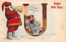 hol017760 - Santa Claus Postcard Old Vintage Christmas Post Card