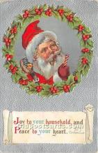 hol017761 - Santa Claus Postcard Old Vintage Christmas Post Card