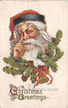 hol017763 - Santa Claus Postcard Old Vintage Christmas Post Card