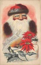 hol017764 - Santa Claus Postcard Old Vintage Christmas Post Card