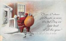 hol017765 - Santa Claus Postcard Old Vintage Christmas Post Card