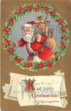 hol017767 - Santa Claus Postcard Old Vintage Christmas Post Card