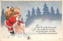 hol017768 - Santa Claus Postcard Old Vintage Christmas Post Card