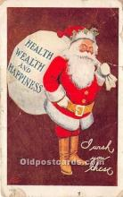 hol017769 - Santa Claus Postcard Old Vintage Christmas Post Card