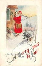 hol017771 - Santa Claus Postcard Old Vintage Christmas Post Card