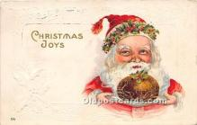 hol017772 - Santa Claus Postcard Old Vintage Christmas Post Card
