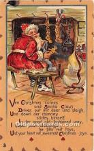hol017773 - Santa Claus Postcard Old Vintage Christmas Post Card