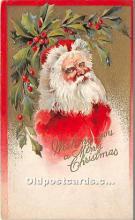hol017779 - Santa Claus Postcard Old Vintage Christmas Post Card
