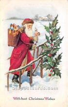 hol017780 - Santa Claus Postcard Old Vintage Christmas Post Card