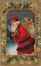 hol017782 - Santa Claus Postcard Old Vintage Christmas Post Card