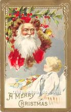 hol017784 - Santa Claus Postcard Old Vintage Christmas Post Card