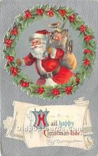hol017786 - Santa Claus Postcard Old Vintage Christmas Post Card