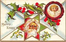 hol017787 - Santa Claus Postcard Old Vintage Christmas Post Card