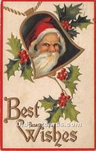 hol017788 - Santa Claus Postcard Old Vintage Christmas Post Card