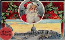 hol017789 - Santa Claus Postcard Old Vintage Christmas Post Card
