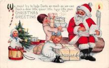 hol017790 - Santa Claus Postcard Old Vintage Christmas Post Card