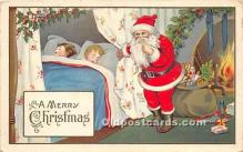 hol017791 - Santa Claus Postcard Old Vintage Christmas Post Card