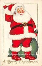 hol017792 - Santa Claus Postcard Old Vintage Christmas Post Card