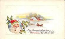 hol017793 - Santa Claus Postcard Old Vintage Christmas Post Card