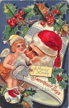 hol017795 - Santa Claus Postcard Old Vintage Christmas Post Card