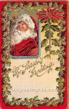 hol017796 - Santa Claus Postcard Old Vintage Christmas Post Card