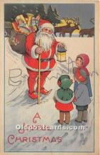 hol017797 - Santa Claus Postcard Old Vintage Christmas Post Card