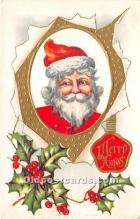 hol017799 - Santa Claus Postcard Old Vintage Christmas Post Card