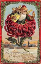 hol017800 - Santa Claus Postcard Old Vintage Christmas Post Card