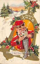 hol017801 - Santa Claus Postcard Old Vintage Christmas Post Card