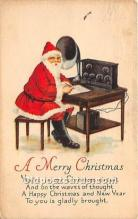 hol017803 - Santa Claus Postcard Old Vintage Christmas Post Card