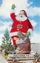 hol017804 - Santa Claus Postcard Old Vintage Christmas Post Card