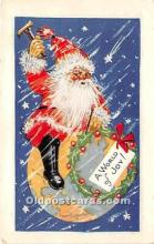 hol017805 - Santa Claus Postcard Old Vintage Christmas Post Card