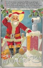 hol017806 - Santa Claus Postcard Old Vintage Christmas Post Card