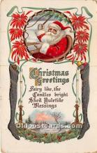 hol017807 - Santa Claus Postcard Old Vintage Christmas Post Card