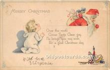 hol017808 - Santa Claus Postcard Old Vintage Christmas Post Card