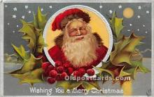 hol017811 - Santa Claus Postcard Old Vintage Christmas Post Card