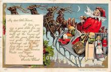 hol017812 - Santa Claus Postcard Old Vintage Christmas Post Card