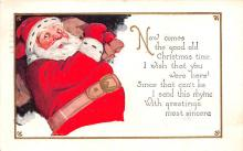 hol018029 - Santa Claus Christmas Old Vintage Antique Postcard