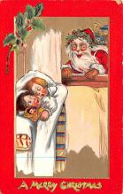 hol018033 - Santa Claus Christmas Old Vintage Antique Postcard