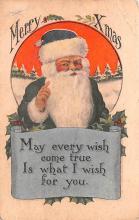 hol018039 - Santa Claus Christmas Old Vintage Antique Postcard