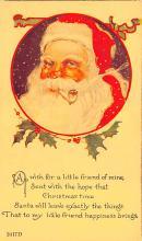 hol018041 - Santa Claus Christmas Old Vintage Antique Postcard