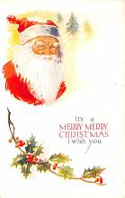 hol018043 - Santa Claus Christmas Old Vintage Antique Postcard