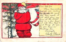 hol018045 - Santa Claus Christmas Old Vintage Antique Postcard