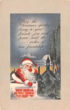 hol018049 - Santa Claus Christmas Old Vintage Antique Postcard