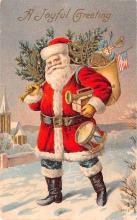 hol018059 - Santa Claus Christmas Old Vintage Antique Postcard