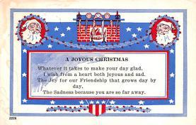 hol018063 - Santa Claus Christmas Old Vintage Antique Postcard