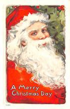 hol018065 - Santa Claus Christmas Old Vintage Antique Postcard