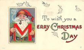 hol018067 - Santa Claus Christmas Old Vintage Antique Postcard