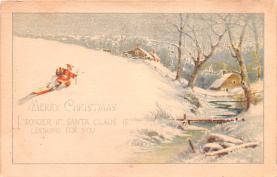 hol018069 - Santa Claus Christmas Old Vintage Antique Postcard